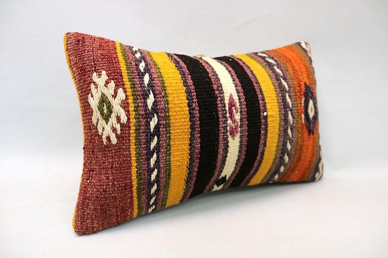 Vintage Sofa Pillow Kilim Pillow Decorative Sofa Pillow 12\u201dx20\u201d Kilim Cushion Kilim Pillow Throw Pillow Handmade Ethnic Boho Pillow