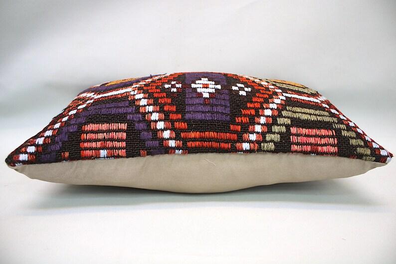 Kilim Cushion 12\u201dx20\u201d Throw Pillow Vintage Pillow Decorative Sofa Pillow Kilim Pillow Turkish Pillow Lumbar Pillow Accent Pillow