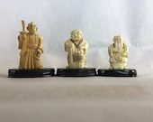 Ivory Japanese Netsuke Figures with stands