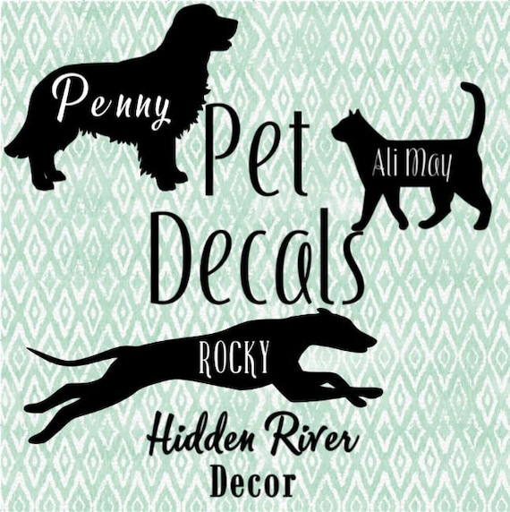 laptop Gift! Custom decal YOUR DOG  PET Traced photo of your own dog customised with name decal  sticker for your car bumper sticker