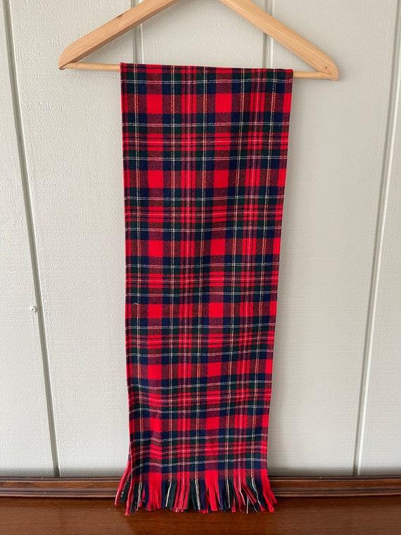 Pendleton Red Tartan Wool Scarf (NWT) - image 3