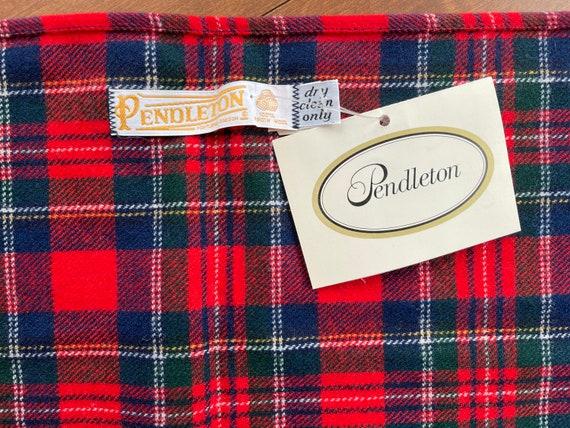 Pendleton Red Tartan Wool Scarf (NWT) - image 4