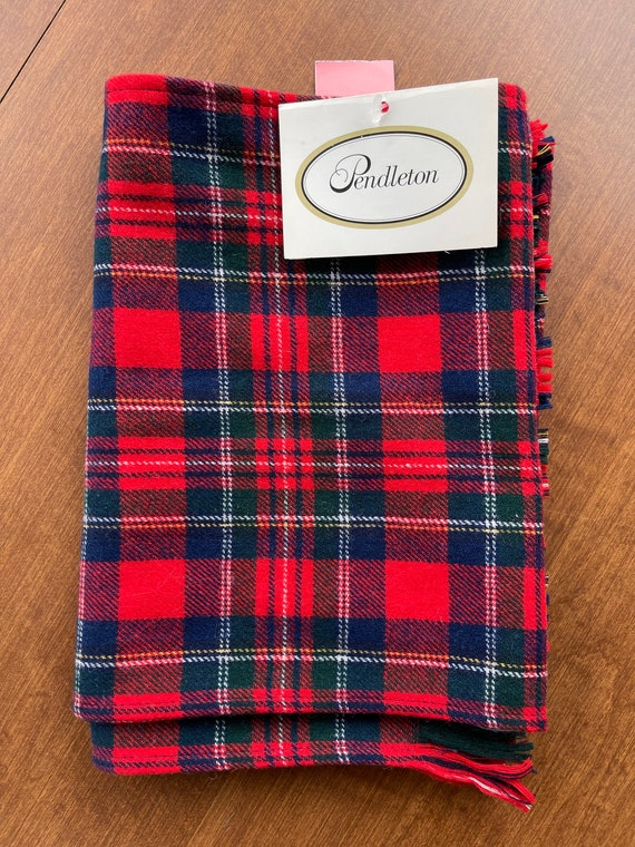 Pendleton Red Tartan Wool Scarf (NWT) - image 2