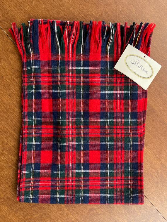 Pendleton Red Tartan Wool Scarf (NWT) - image 1