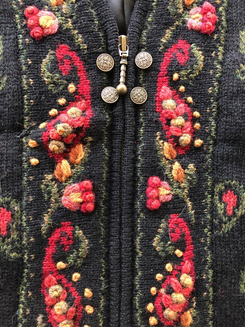 Icelandic Design Boteh Embroidered Vest