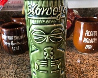 "Harvey's Sneaky Tiki Lake Tahoe Green 7.25"" Mug Cup Glass"