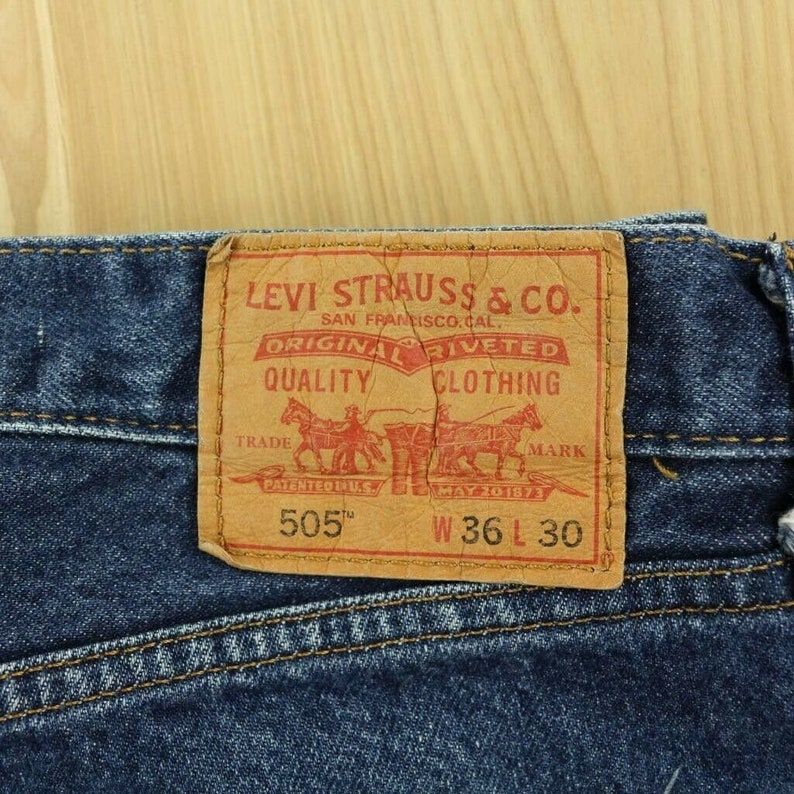 Vintage Levi/'s 505s 3630 Zip Front Nice /& Worn Soft Slightly Distressed Whiskered Classics