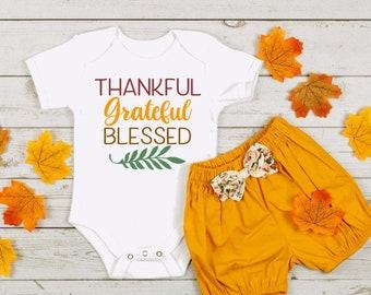 Miss Thankful OnesieThanksgiving OnesieGirls Thanksgiving Girls Fall Onesie