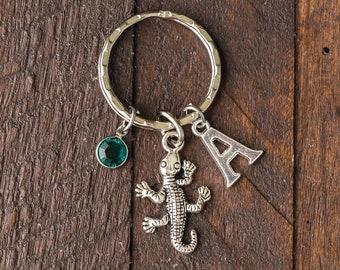 Blue Bug Mood Keyring Gecko Reptile Birthday Gift Accessory Keys Keychain Charm