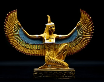 Egyptian Goddess maat Open Wings large Statue (2 size) made in egypt