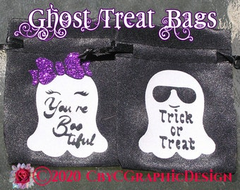 Halloween Ghost Treat Bags You are Bootiful & Trick or Treat