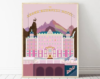 Classic The Grand Budapest Hotel Movie Art Decor Print Poster 18x12 36x24 40x27/""