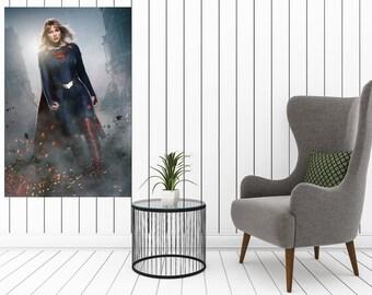"Melissa Benoist Supergirl V the Flash Season 1 CBS TV Poster 40x27 36x24 18x12/"""