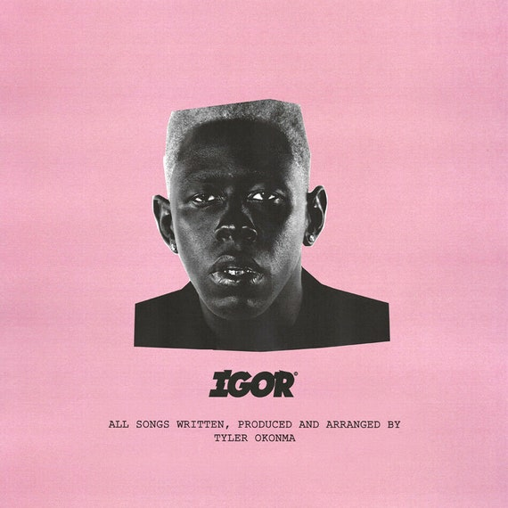 "Tyler The Creator Igor Poster 32x32/"" 24x24 Album Music Cover Art Back Print Silk"