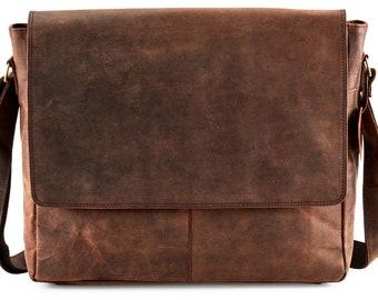 Ladies Soft Leather Office Work Messenger Bag Women Shoulder Tote Satchel Handba
