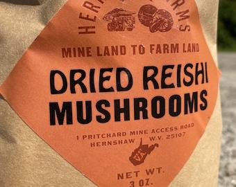 Reishi Mushrooms, Air Dried, 3 oz