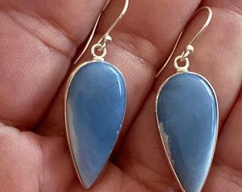 Owyhee Blue Opal Silver Earrings