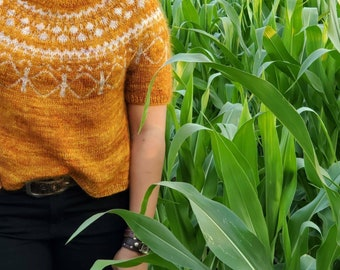 Women/'s knitted top with a genuine Baltic amber buttonssleeveless sweater shirttank topvestspringsummer