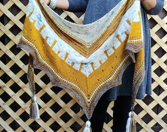 Milu Shawl - Knitting Pattern PDF
