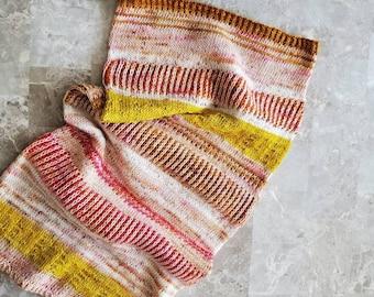Color Craze Cowl - Knitting Pattern PDF