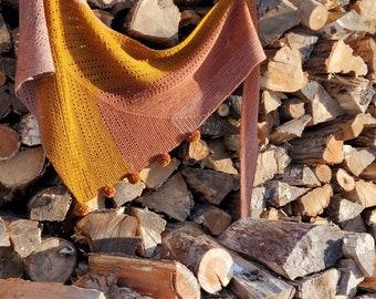Rosewood Shawl - Knitting Pattern PDF