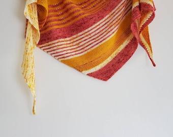 Shades of Peony Shawl - Knitting Pattern PDF