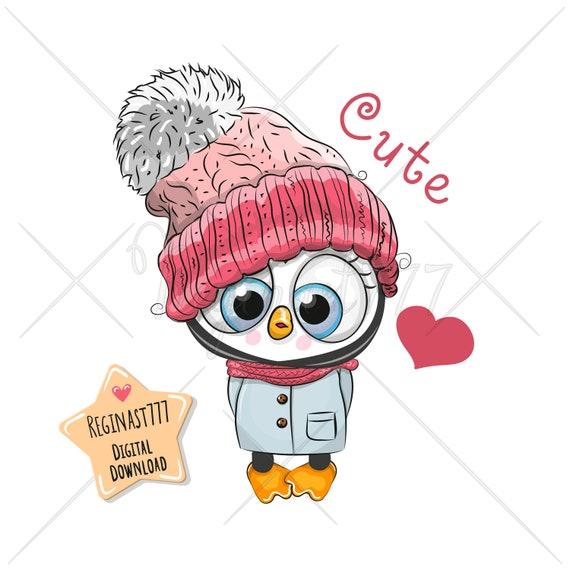 Cute Penguin Christmas Shirt PNG File Girl Loves Penguins Xmas for DTG Printing Digital Prints Sublimation Printing PNG Download