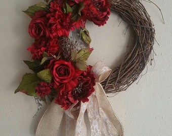 Vintage Artificial Red Strawberries millinery crafts cake topper wreath