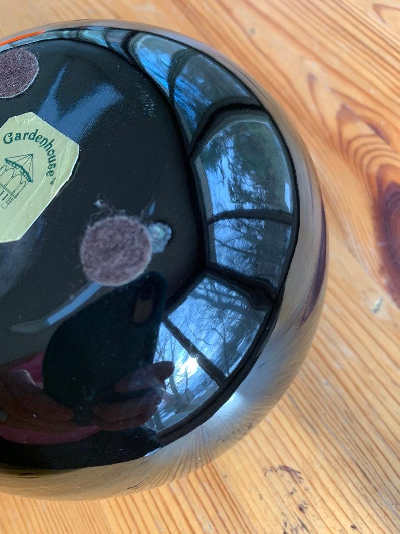 Vintage Haeger Black Orb Planter