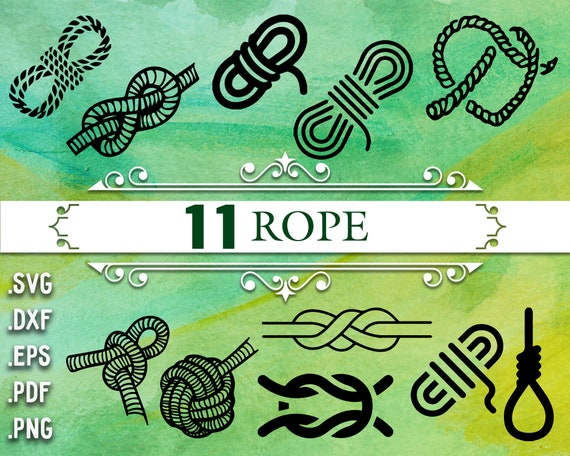 Rope Svg Nautical Svg Anchor Svg Rope Rope Clipart Anchor Etsy