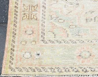 6x9 Turkish Vintage Oushak Carpet Rug,6x9 Rug,6x9,Rug,Carpet Rug,Area Rug,Faded Rug,Muted Rug,6x9 Turkish Rug,Vintage Carpet,Handmade,7174