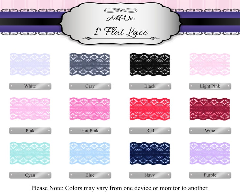 Add-On 1 Flat Lace for 78 Products Read Full Description