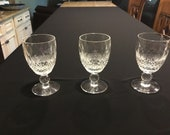 Set of 3 Waterford Colleen Cordial Glasses (Short Stem)