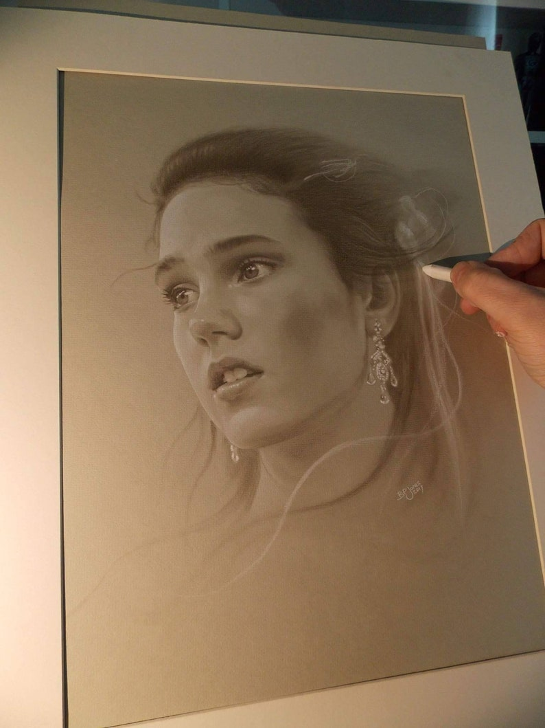 Limited print of my drawing of Sarah from labyrinth