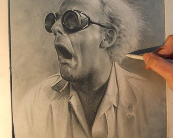 Limited print of my drawing of doc from back to the future
