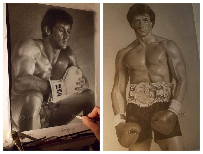 Set of two limited prints of my rocky pastel drawings Christmas deal
