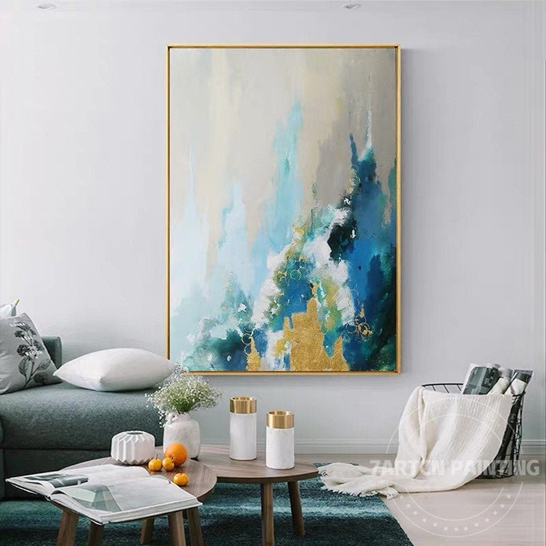 Ocean sea Abstract art acrylic paintings on canvas modern image 0
