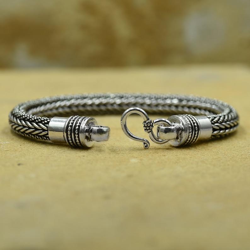 Artisan Handcrafted weave chain BALINESE Snake Chain Bracelet for Men and Women. JOHN HARDY inspired Solid 925 Sterling Silver Bracelet