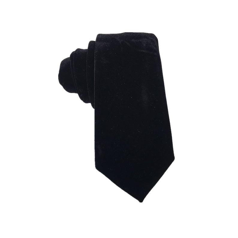 Black Velvet Tie Skinny  Tie  Groom Wedding Tie  Narrow Slim Neckties