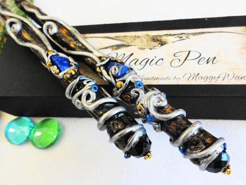 Writer Talisman Magic Pen Sodalite Stone Magic Wand Pencil image 0