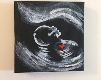 Ultrasound painting   Etsy