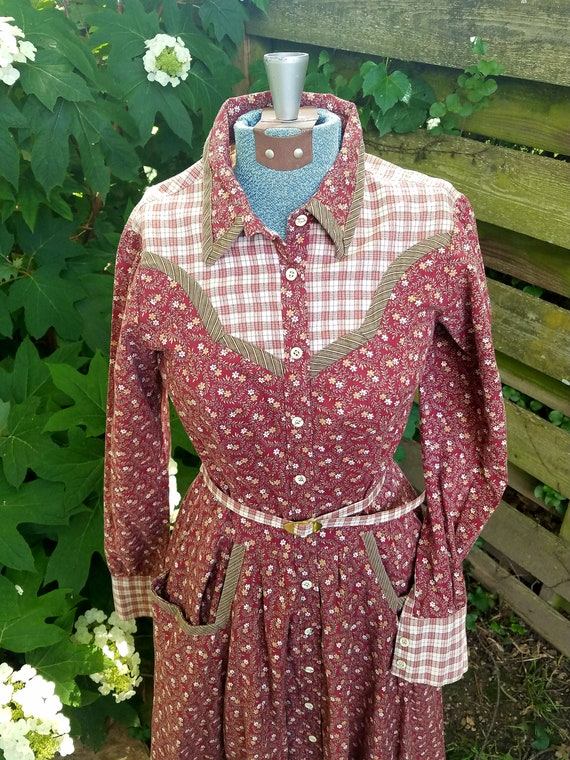 Gunne Sax Prairie Dress - Vintage 1977 - image 1