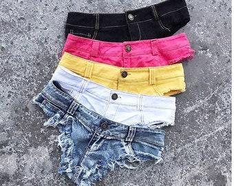 3675b13b9c67 Sexy Denim Micro Mini Shorts For Women Beach Hot Sexy Ripped Short Jeans  Summer Denim Black Micro Denim Shorts Women