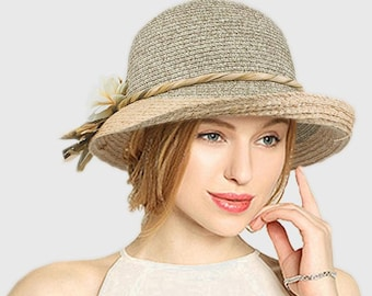 254788063 Raffia sun hat | Etsy