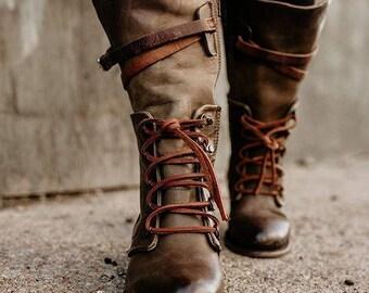 Woman Shoes, Winter Boots, Woman Flat Heel Plain Outdoor Zipper Boots