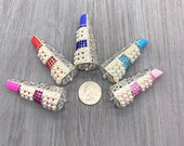3D Lipstick Charms With Pearls LG-Designer Inspired-DIY Bracelets Necklaces -Jewelry Charms-Affordable Charms - DIY Phone case Embellishment