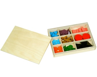 Basic Wooden Grammar Symbols with Box / IFIT Montessori Language Materials, Educational Wooden Toy