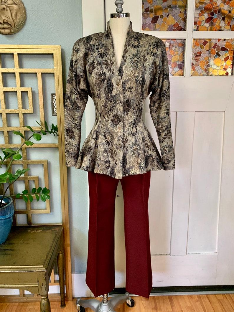 S XS Vintage 80s Peplum Blazer Jacket