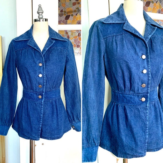Vintage 70s Blue Denim Jacket, S