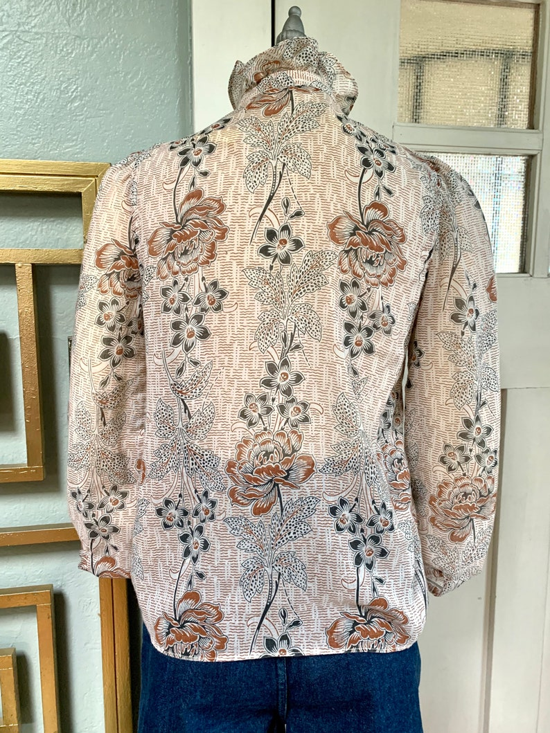 Vintage 70s Indian Cotton Blouse by Sugar Free S